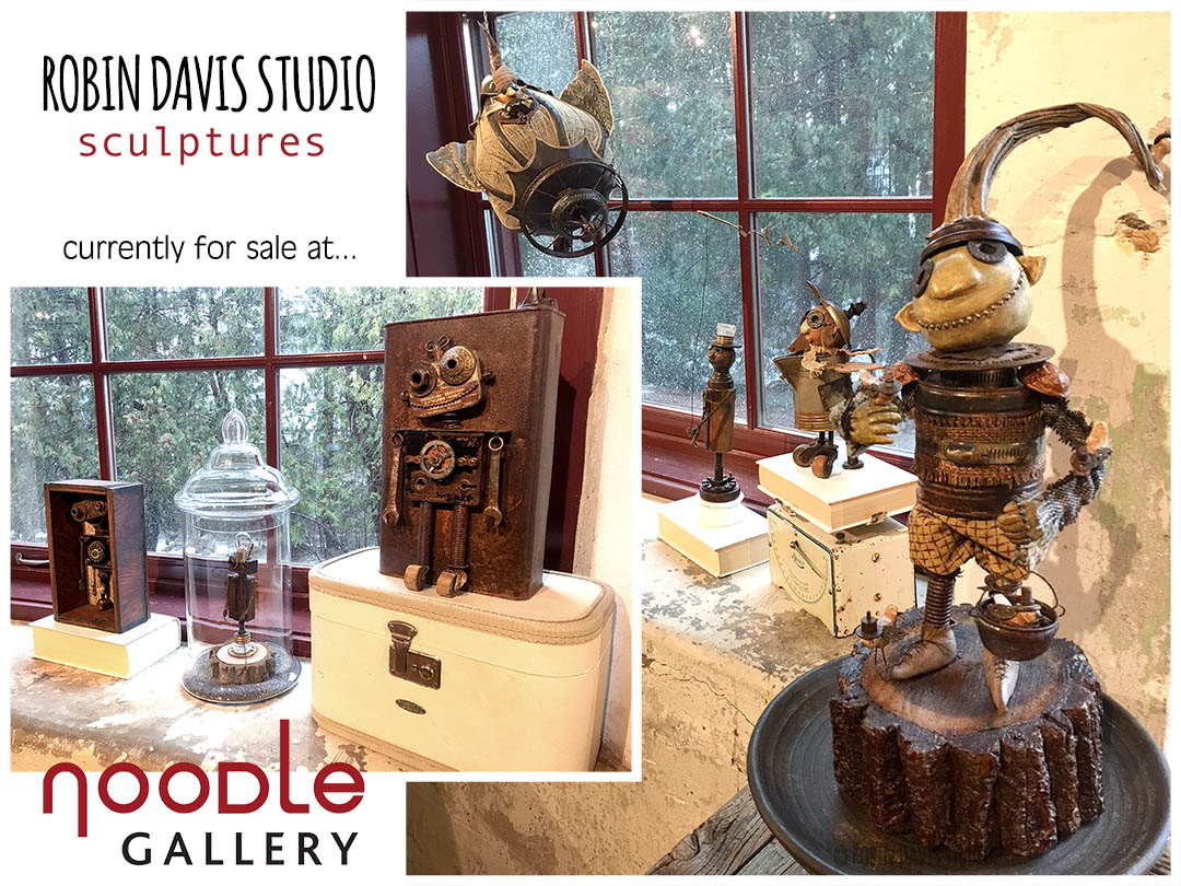 Steampunk Sculptures by Robin Davis Studio
