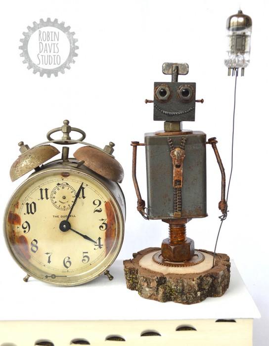 Robot Sculpture Robin Davis Studio