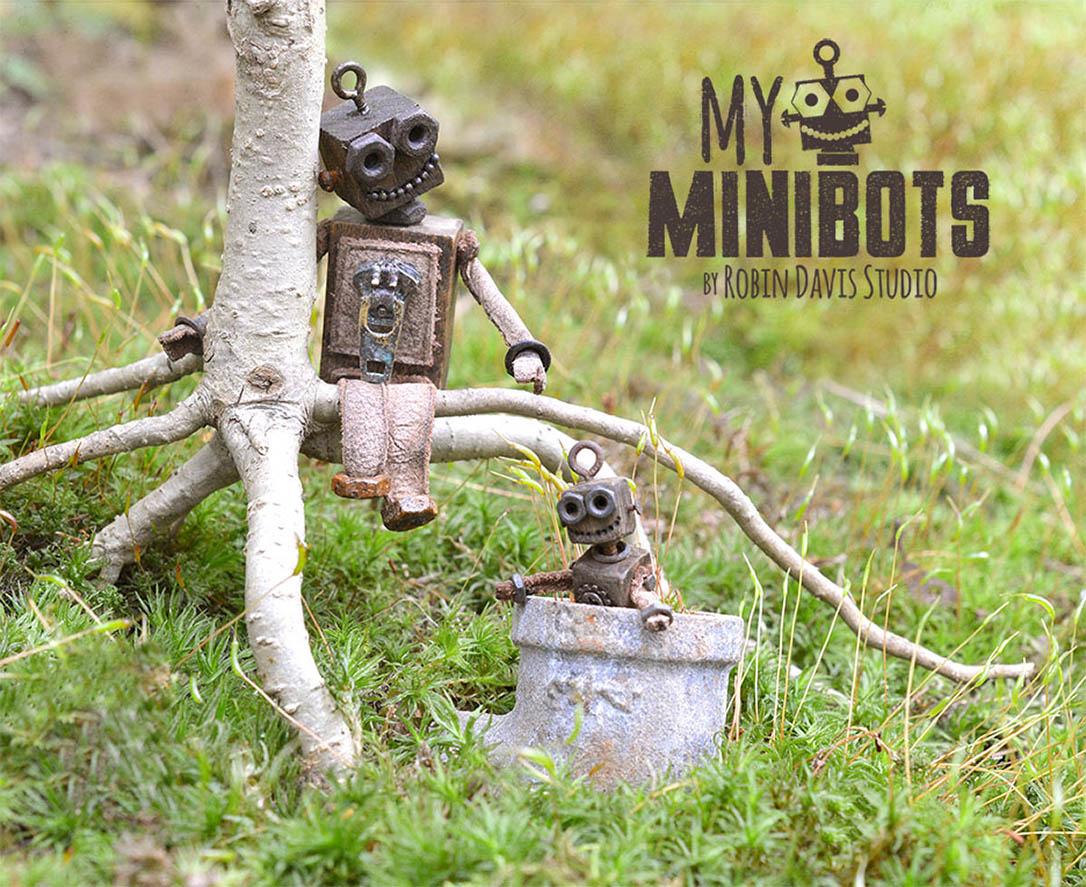 Miniature Robots in the Woods Robin Davis Studio