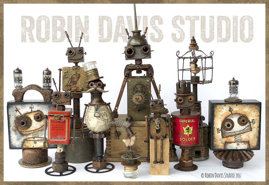 teampunk Sculptures Robin Davis Studio