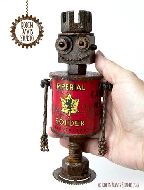 Vintage style robot Imperial Robin Davis Studio