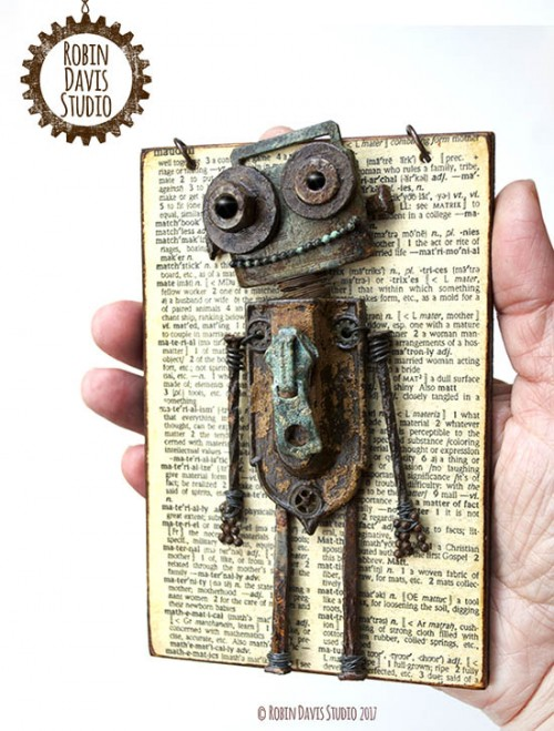 Found objects Robot by Robin Davis Studio