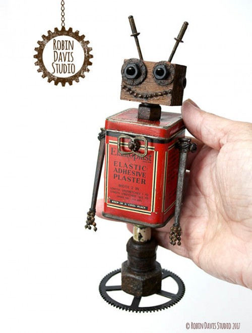 Retro Robots by Robin Davis Studio