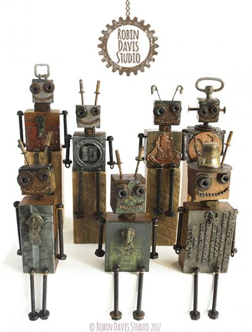 Typeset Block Robots by Robin Davis Studio