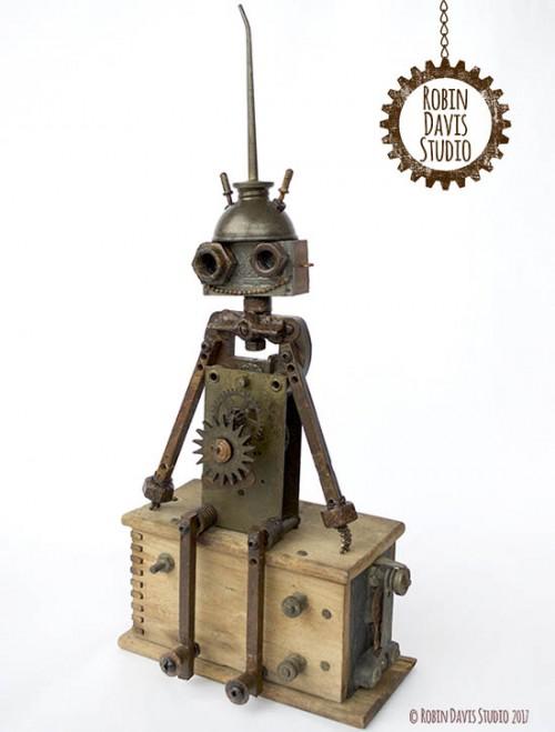 Steampunk Retro Robot -Robin Davis Studio