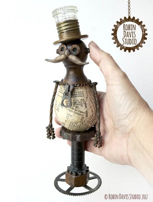 Steampunk sculpture artist - Robin Davis Studio