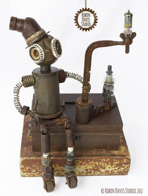 Steampunk sculpture by Robin Davis Studio