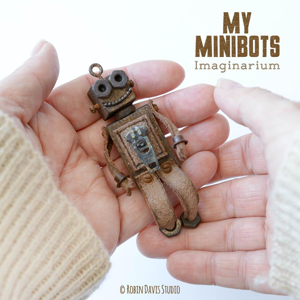 Pocket sized robots by Robin Davis Studio